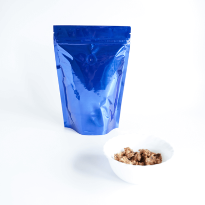Shiny Blue Stand Up Pouch With Zipper And Valve 2