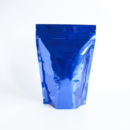 Shiny Blue Stand Up Pouch with Zipper 1