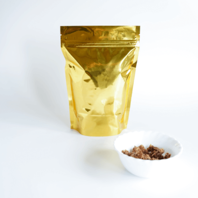 Shiny Gold Stand Up Pouch with Zipper 2